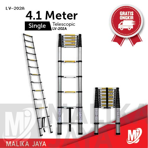 Tangga Telescopic 4,1 Meter Single Merk Liveo