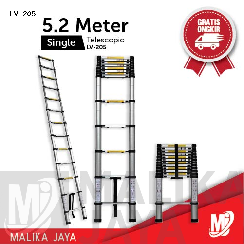 Tangga Telescopic 5,2 Meter Single Merk Liveo